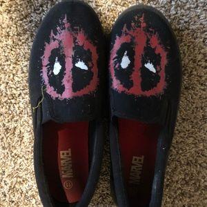 Marvel Deadpool loafers size 12 large